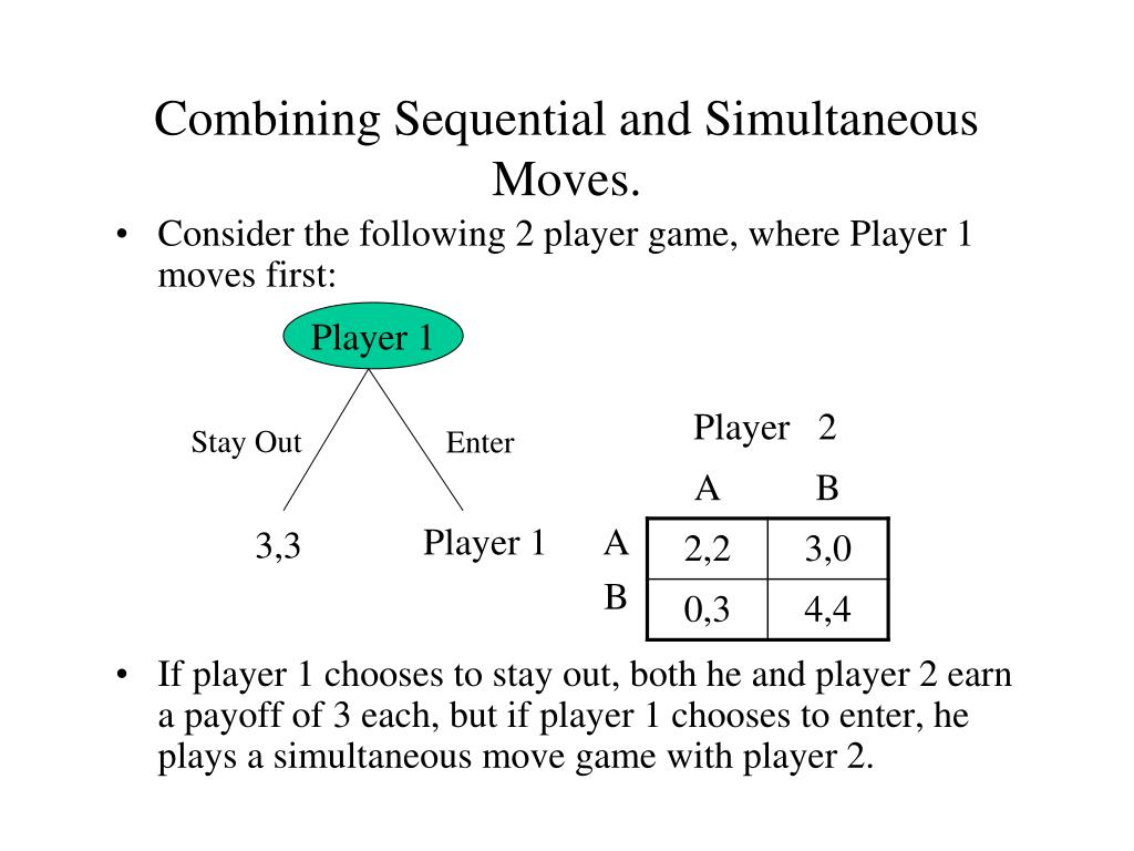 Combining Sequential and Simultaneous Moves.