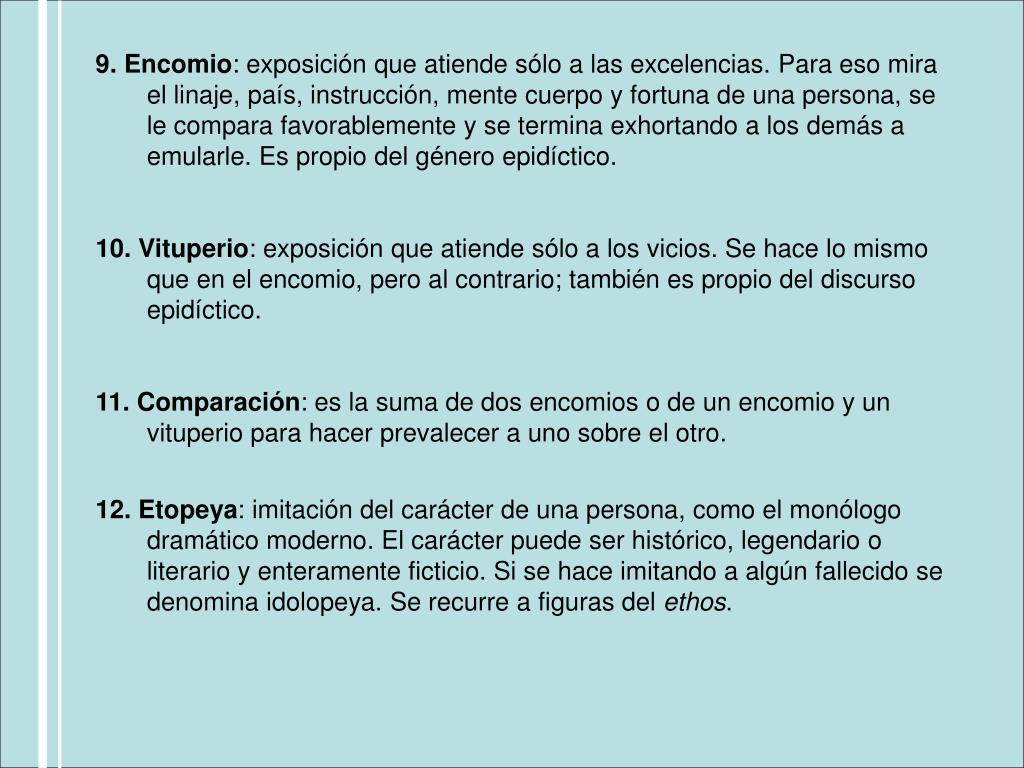 9. Encomio