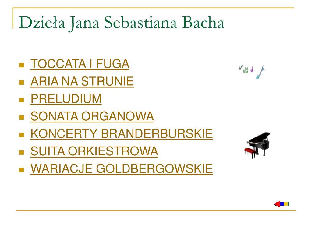 Dzieła Jana Sebastiana Bacha