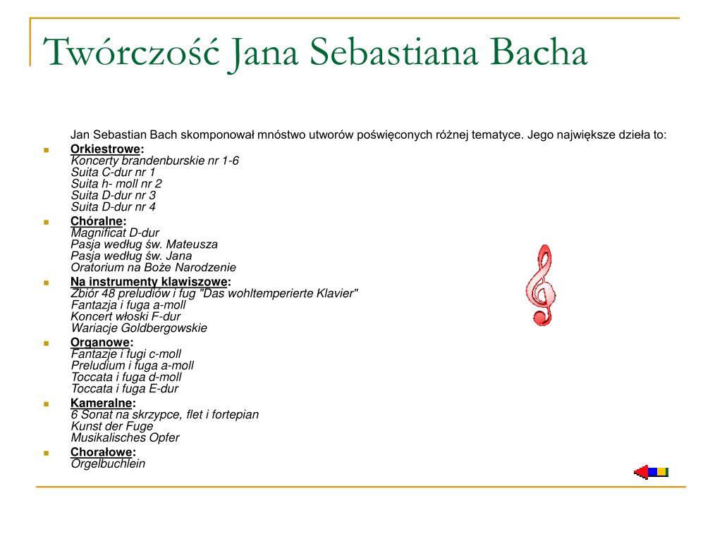 Twórczość Jana Sebastiana Bacha