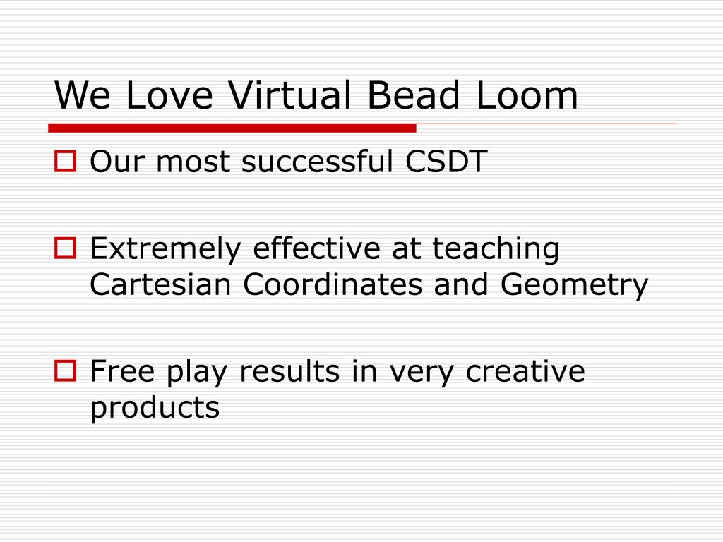We Love Virtual Bead Loom