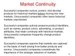 market continuity
