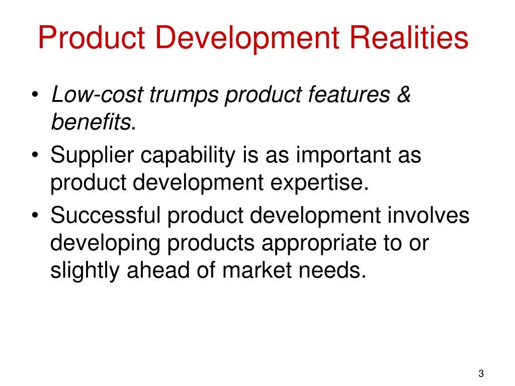 Product Development Realities