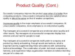 product quality cont