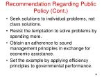 recommendation regarding public policy cont