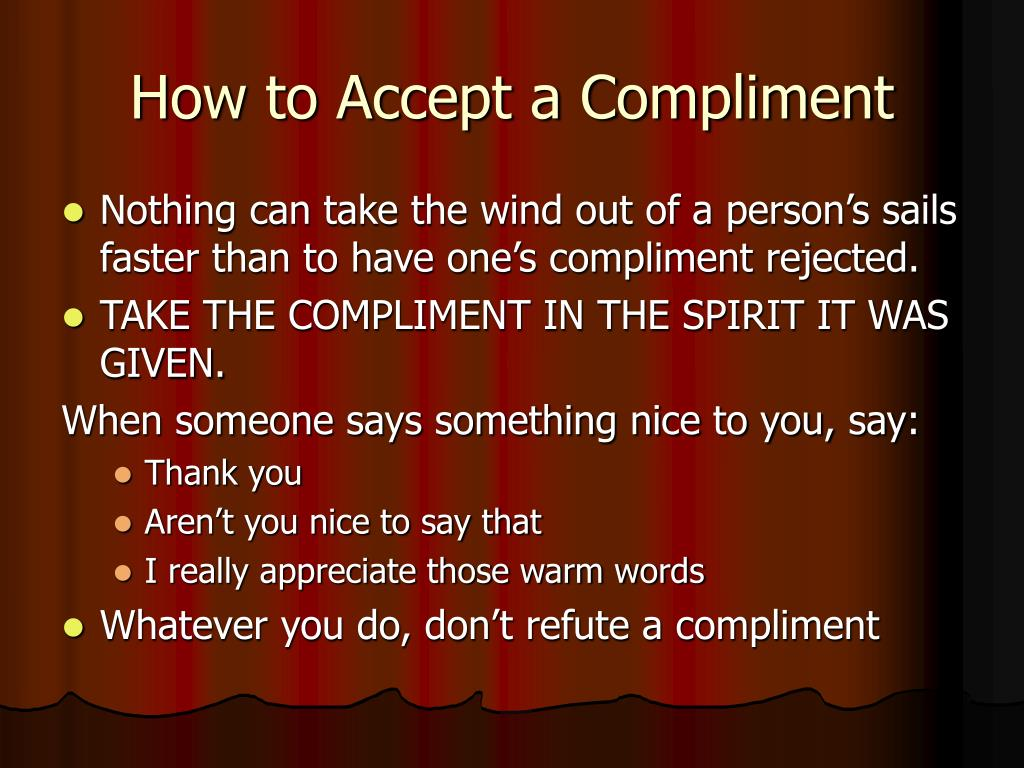 How to Accept a Compliment