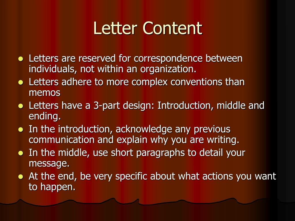 Letter Content