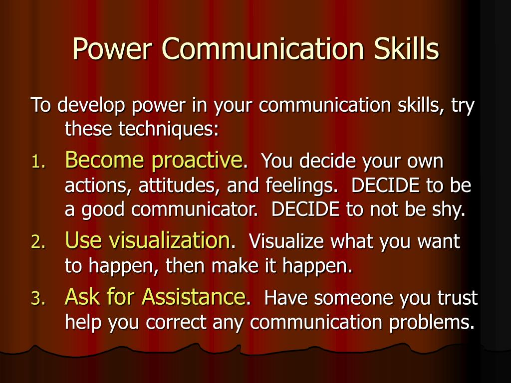 Power Communication Skills