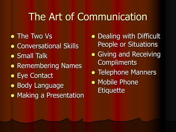 The art of communication3