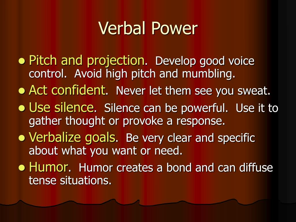 Verbal Power