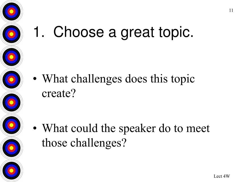1.  Choose a great topic.
