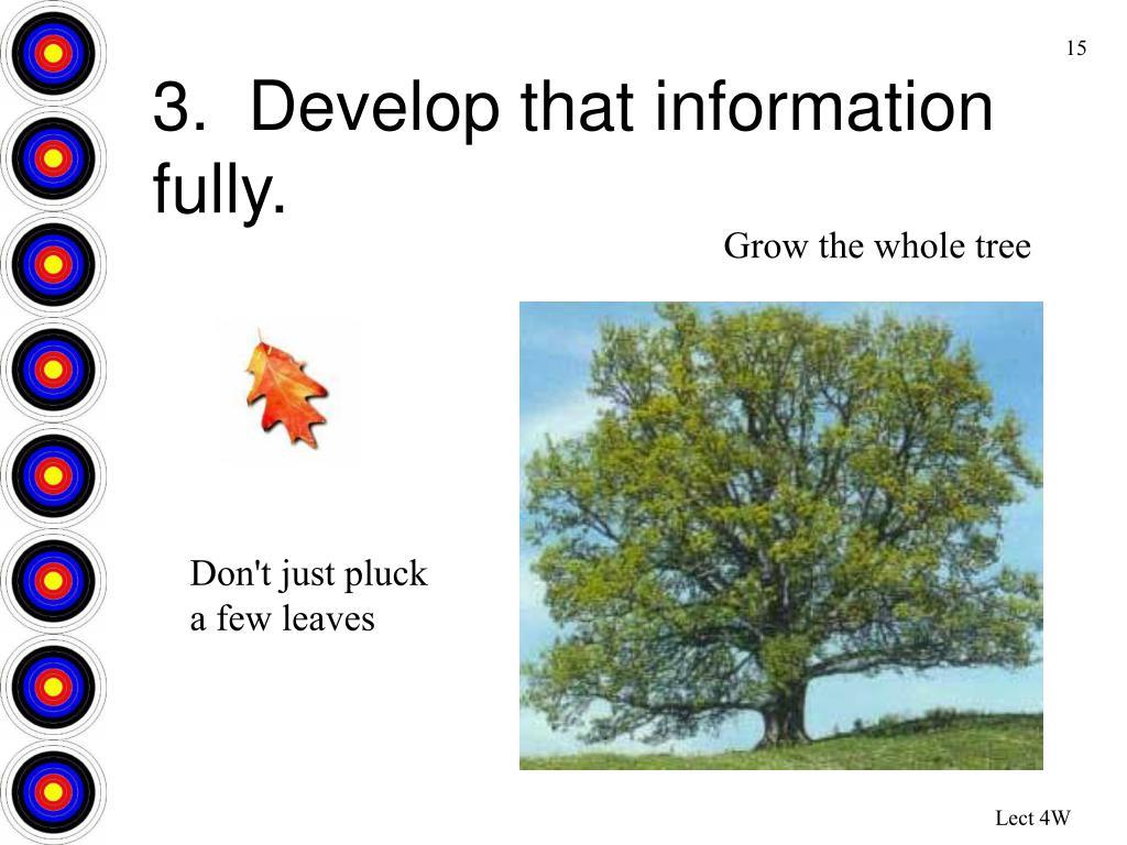 Grow the whole tree