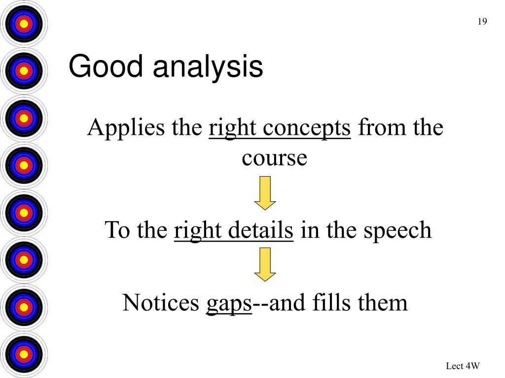 Good analysis