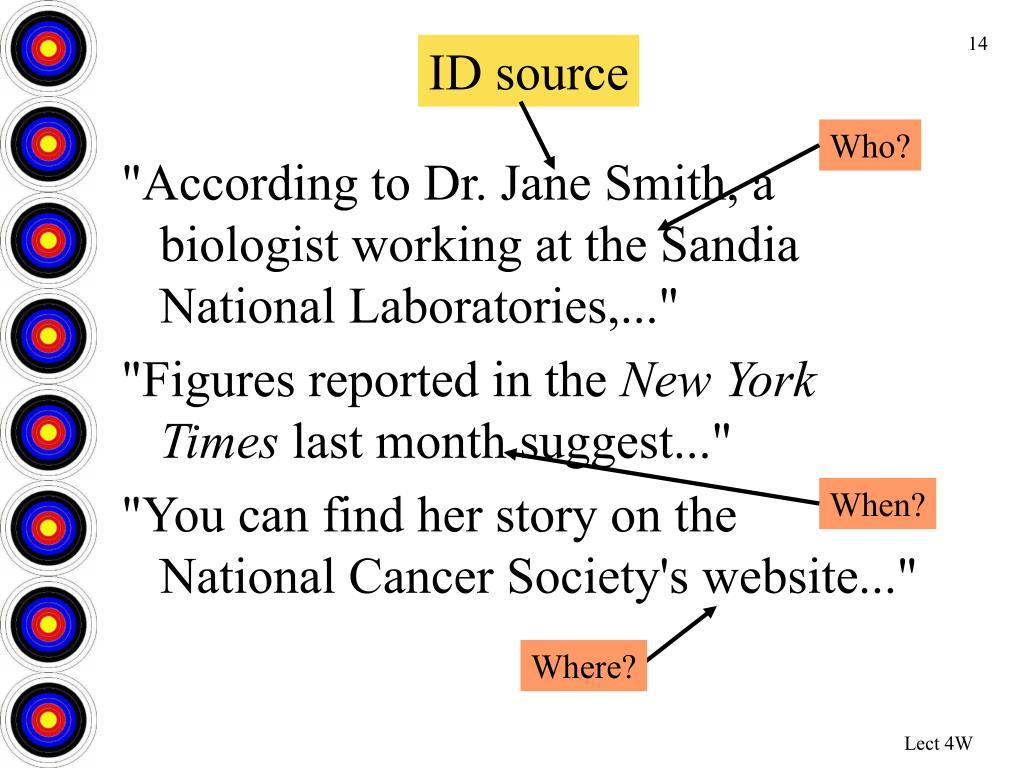 ID source