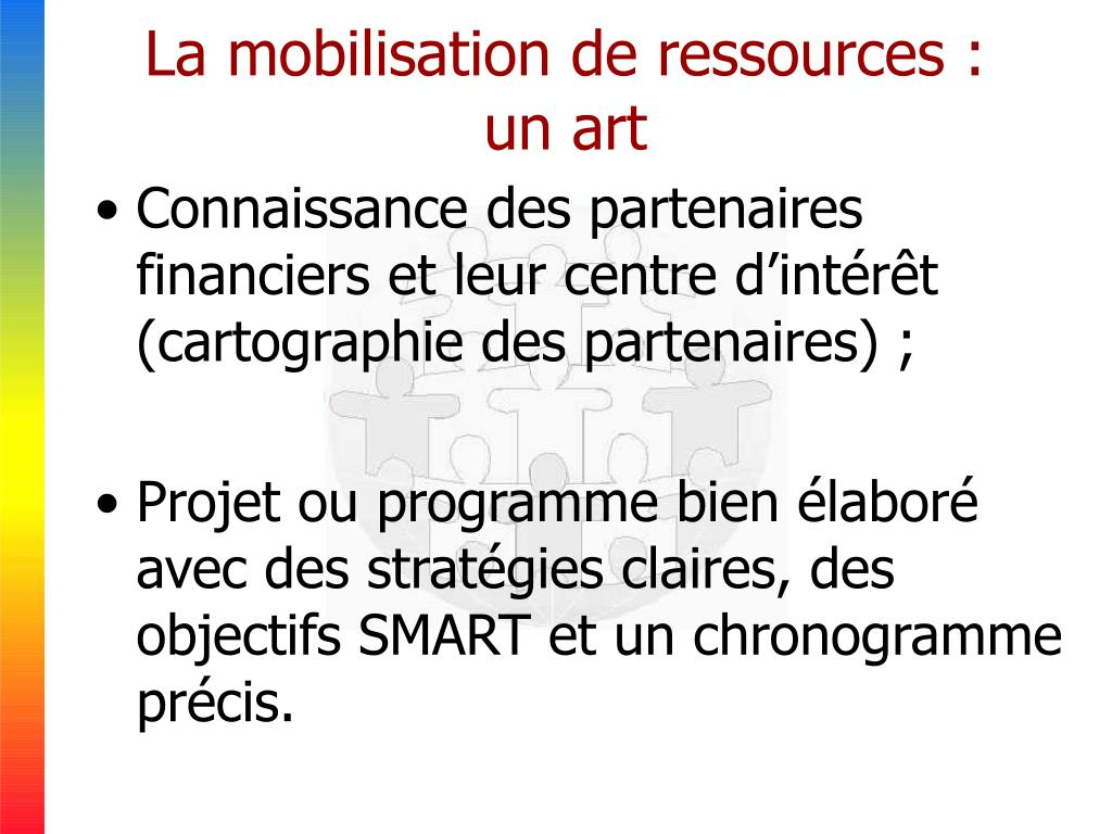 La mobilisation de ressources : un art