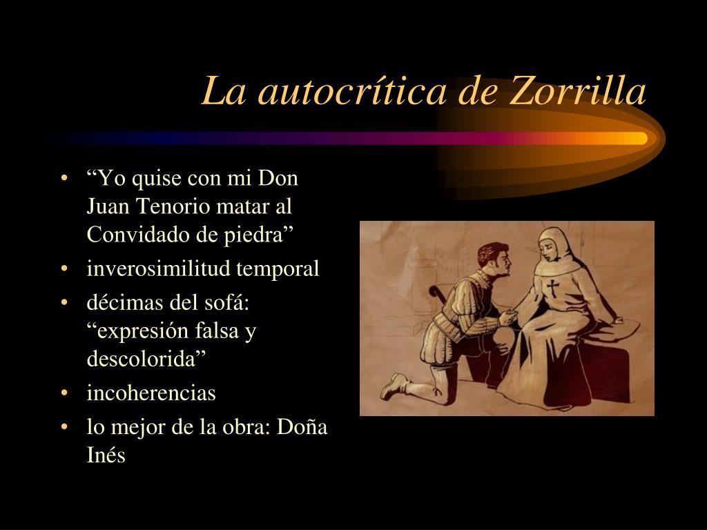 La autocrítica de Zorrilla