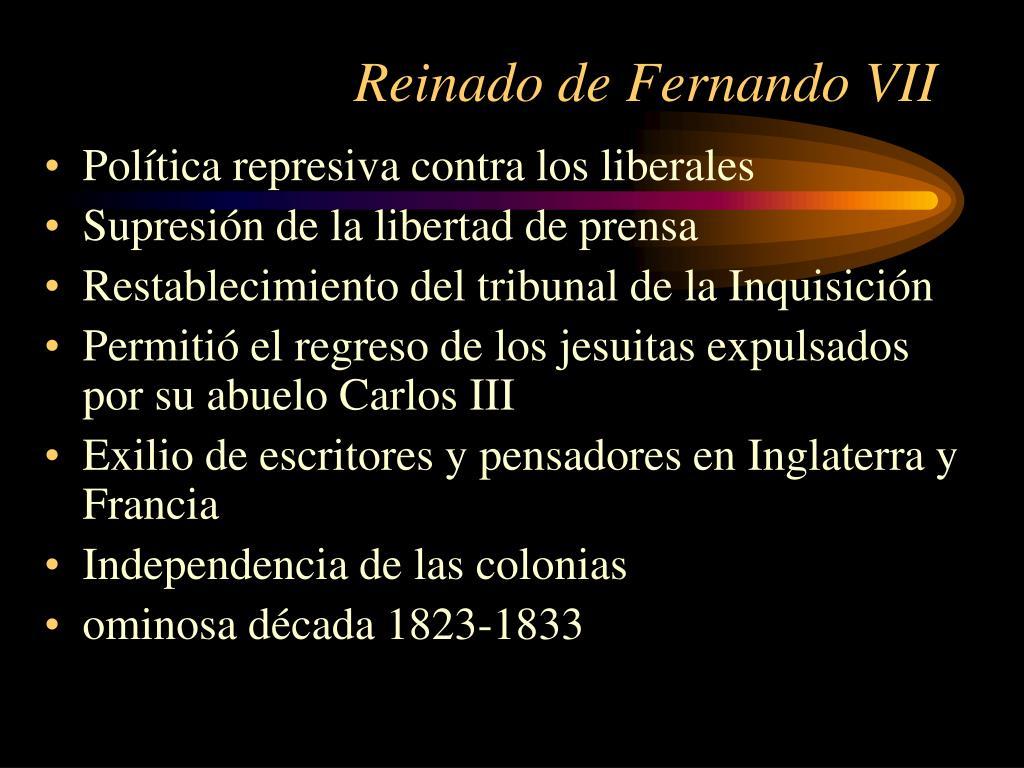 Reinado de Fernando VII