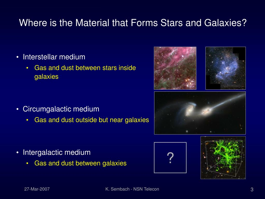 Where is the Material that Forms Stars and Galaxies?