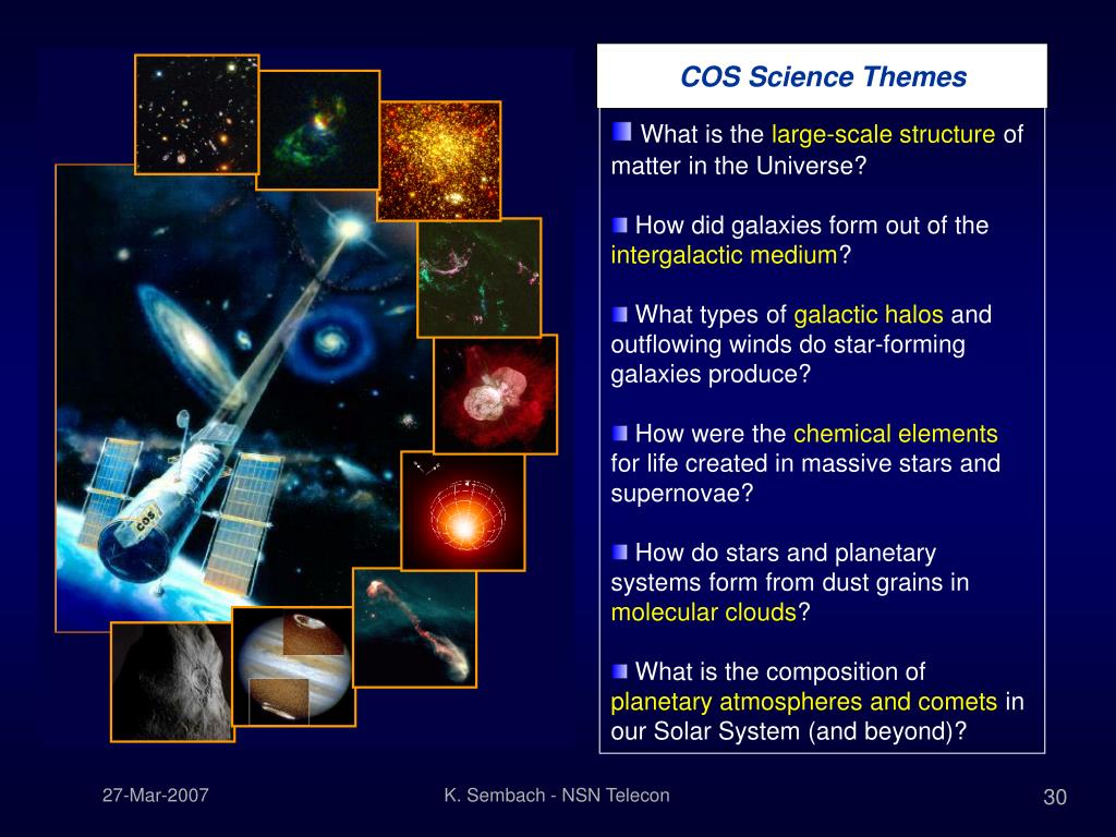 COS Science Themes
