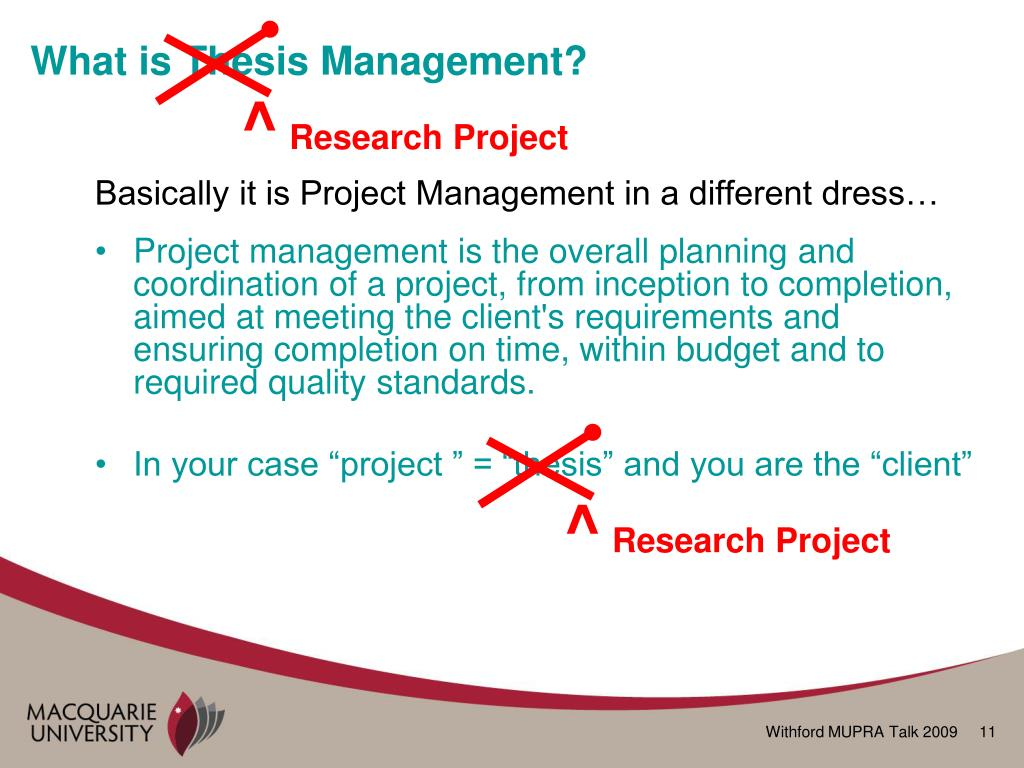 thesis statement on time management
