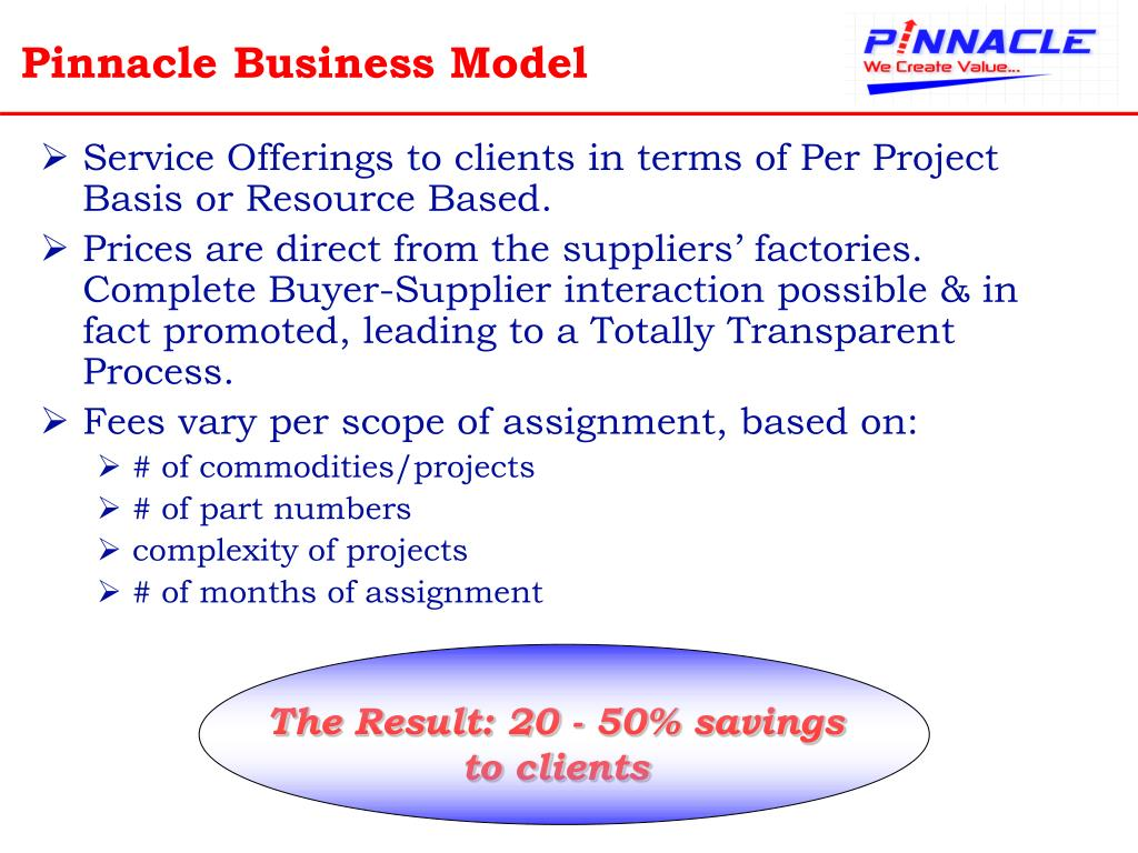 Pinnacle Business Model