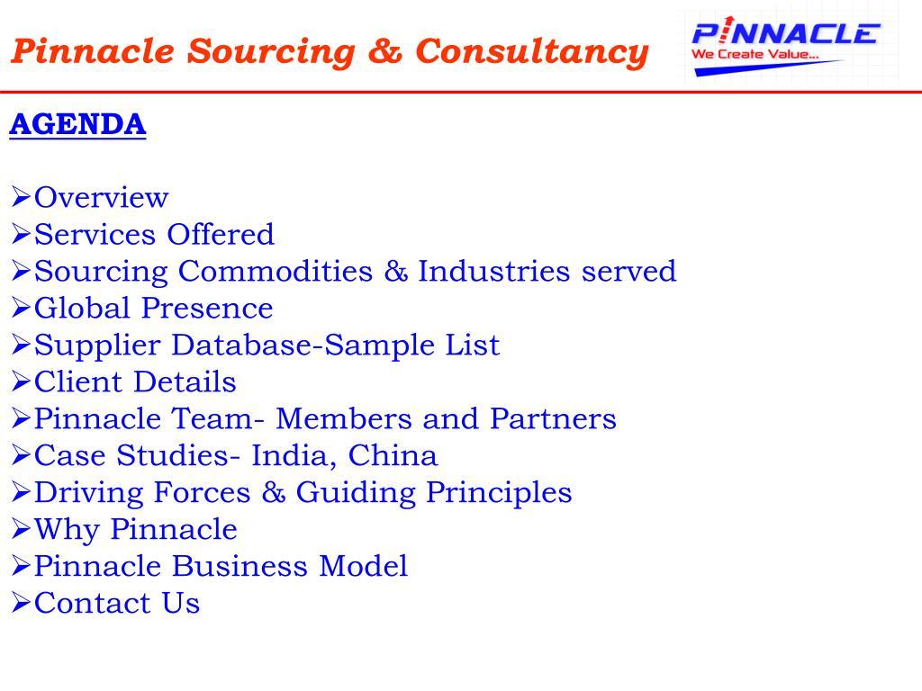 Pinnacle Sourcing & Consultancy