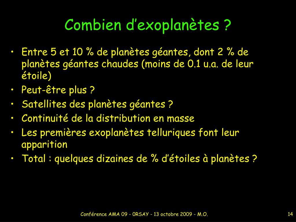 Combien d'exoplanètes ?