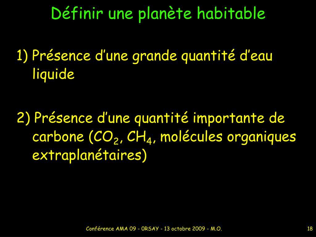 Définir une planète habitable