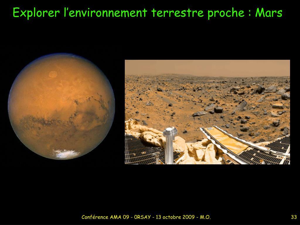 Explorer l'environnement terrestre proche : Mars