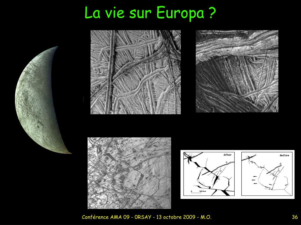 La vie sur Europa ?