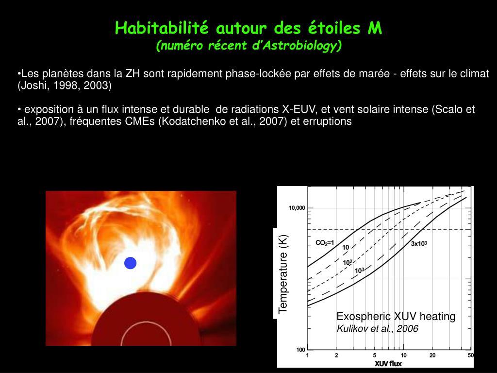 Habitabilité autour des étoiles M