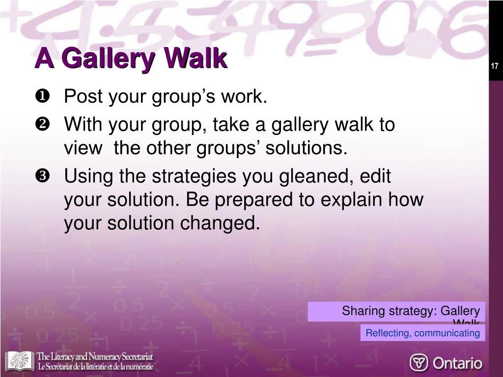 A Gallery Walk