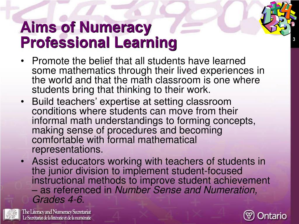 Aims of Numeracy
