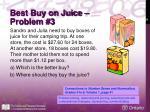 best buy on juice problem 3