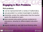 engaging in rich problems