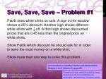 save save save problem 1