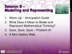 session b modelling and representing