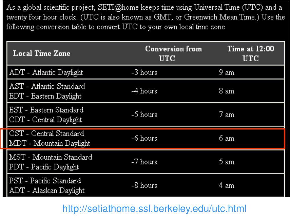 http://setiathome.ssl.berkeley.edu/utc.html