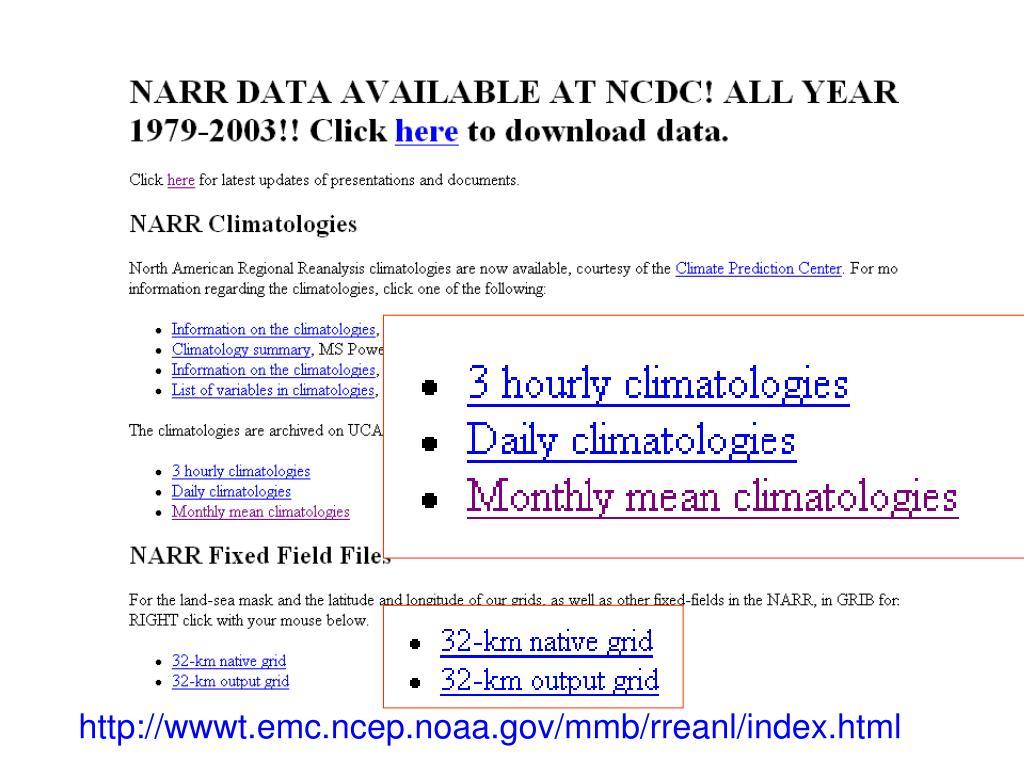 http://wwwt.emc.ncep.noaa.gov/mmb/rreanl/index.html