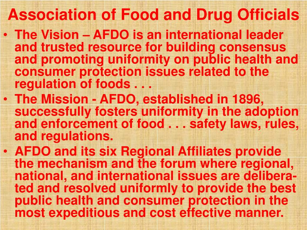 Association of Food and Drug Officials
