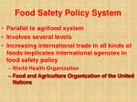food safety policy system32