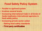 food safety policy system46