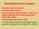 food safety policy system47