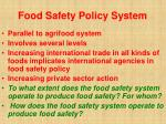 food safety policy system48