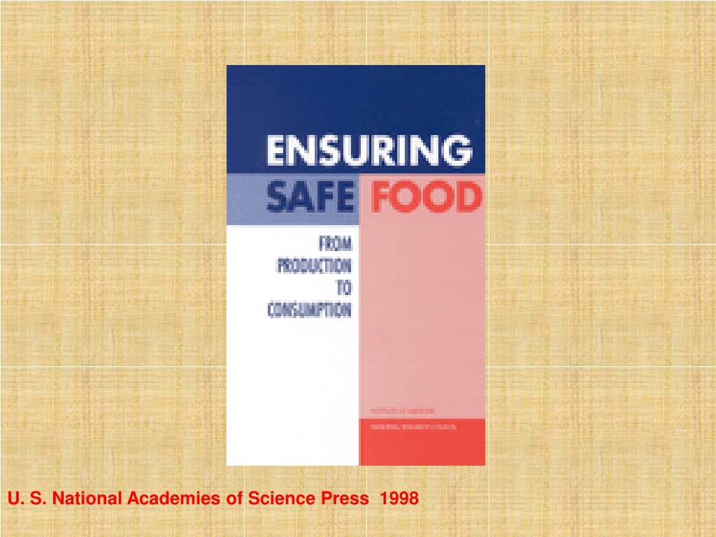 U. S. National Academies of Science Press  1998