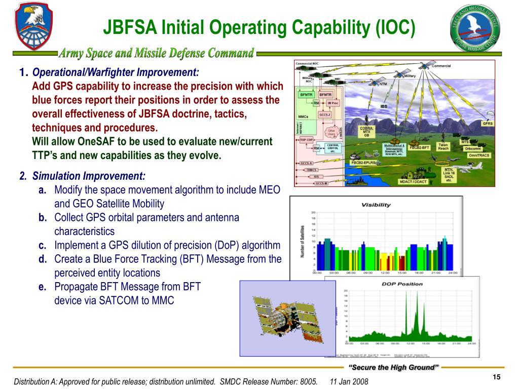 JBFSA Initial Operating Capability (IOC)