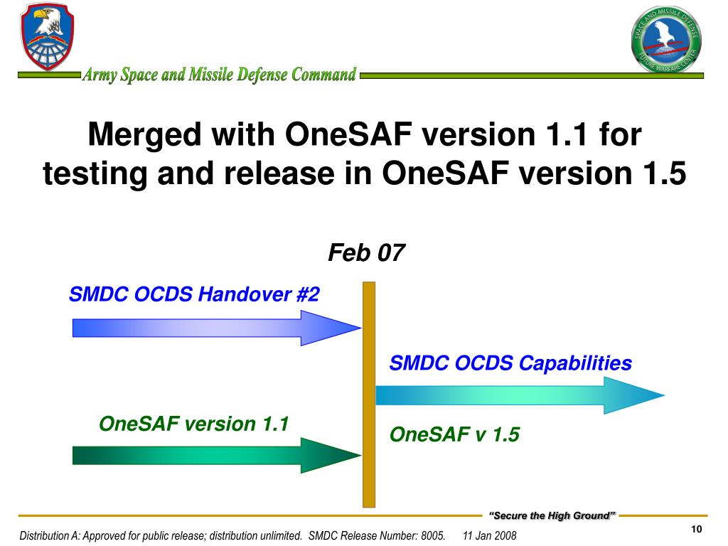 Merged with OneSAF version 1.1 for testing and release in OneSAF version 1.5