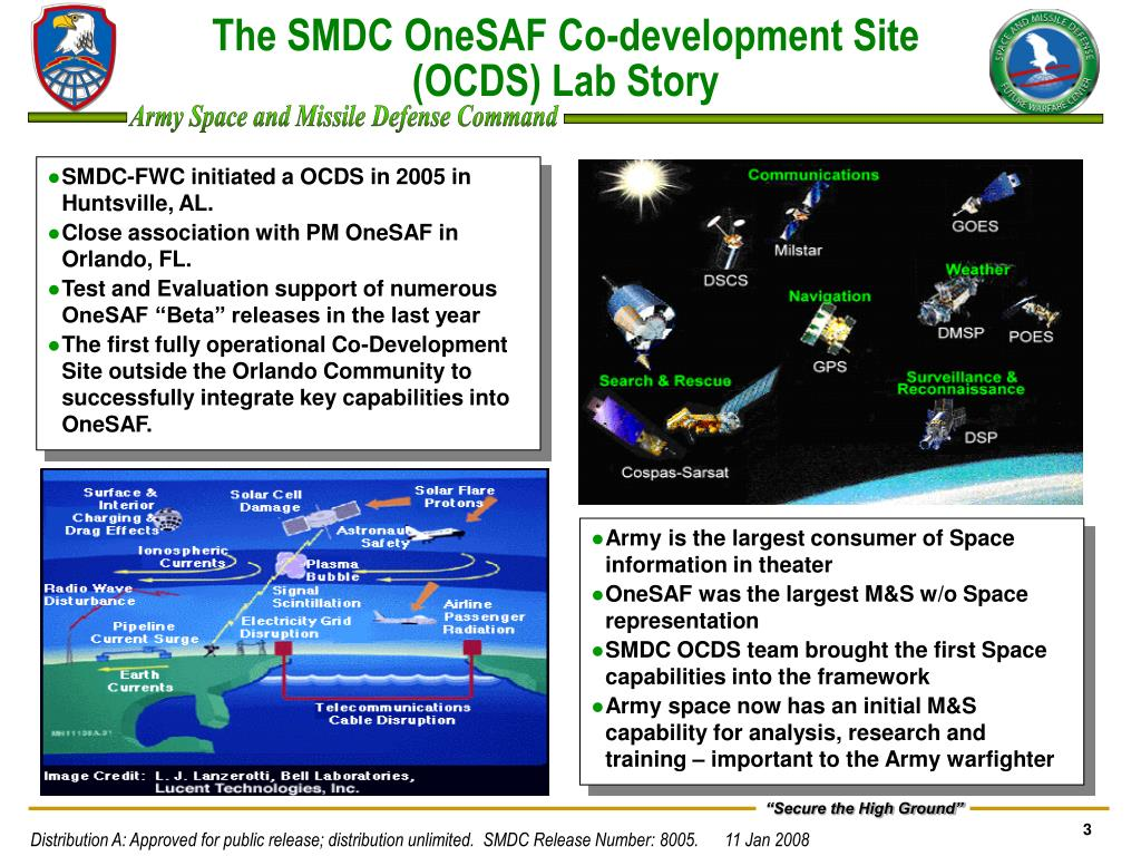 SMDC-FWC initiated a OCDS in 2005 in Huntsville, AL.