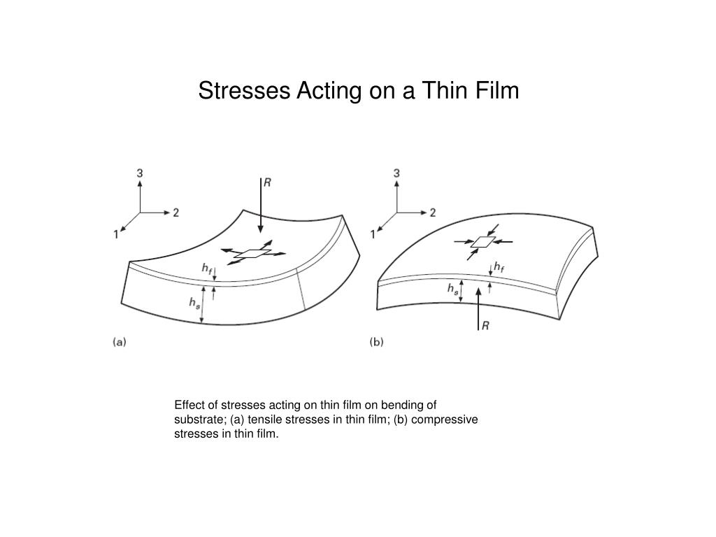 Stresses Acting on a Thin Film