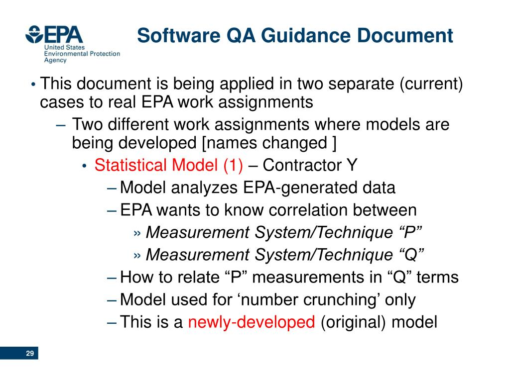 Software QA Guidance Document